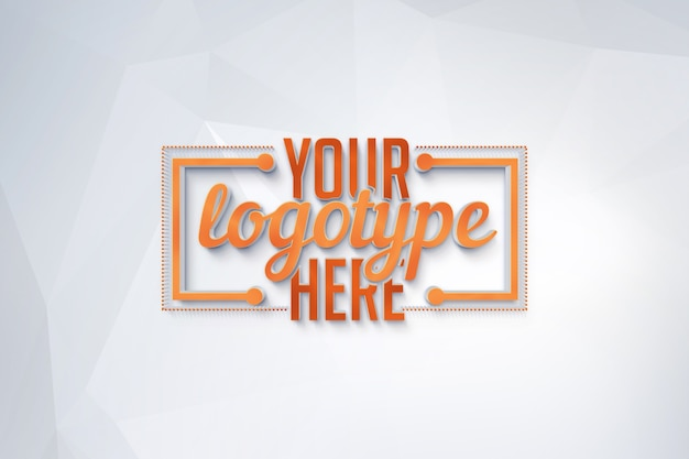 Logotype template on polygonal background