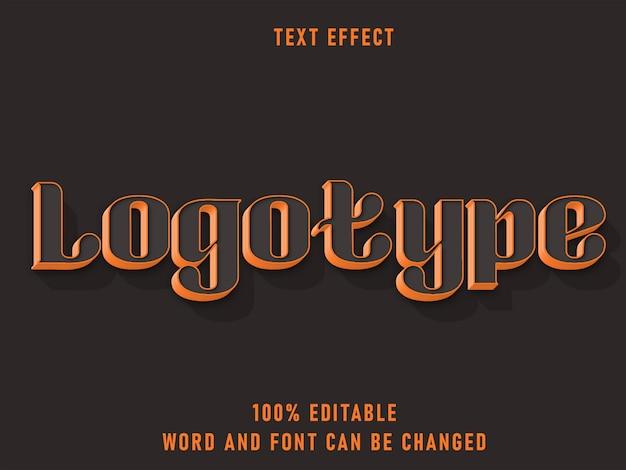 Logotype text retro style