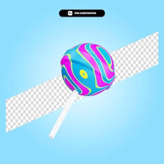 Леденец 3d визуализации изолированных иллюстрация