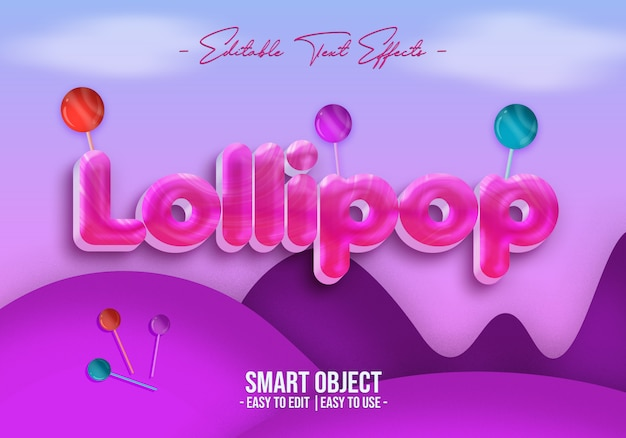 Lollipop-text-style-effect
