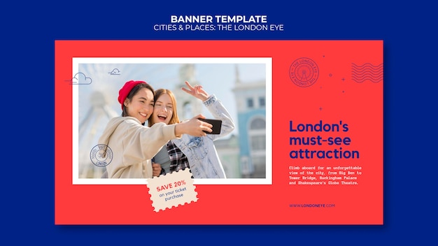 The london eye banner template