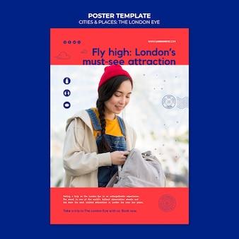 Il modello di poster london eye