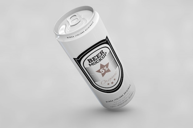 Long beer can mock up