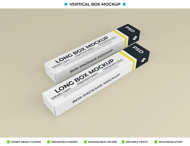 Макет длинной коробки для упаковки продукта