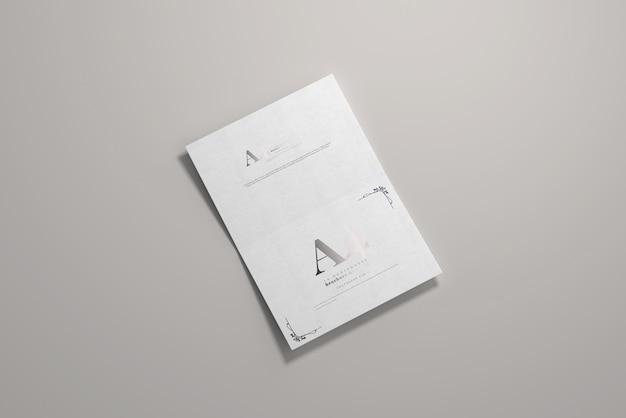 Long edge fold a4 bi-fold горизонтальный макет