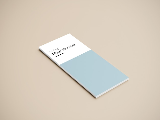 Long flyer mockup design psd