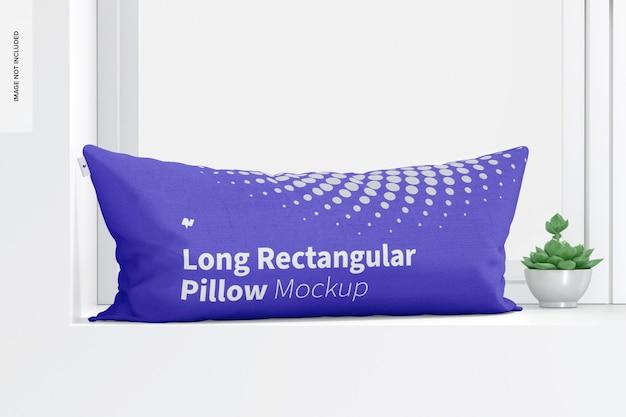Мокап длинной прямоугольной подушки