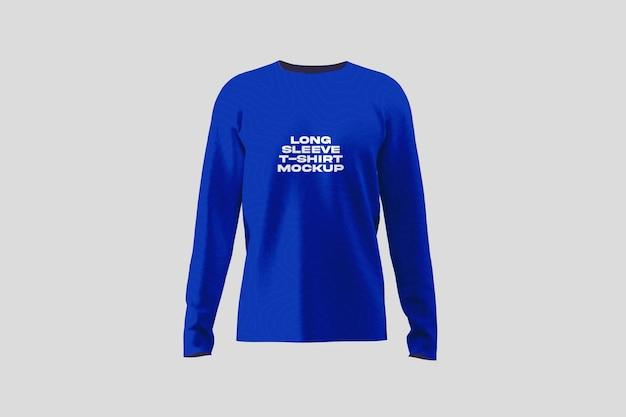 긴 소매 티셔츠 목업
