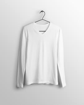 Long sleeve v neck male t-shirt