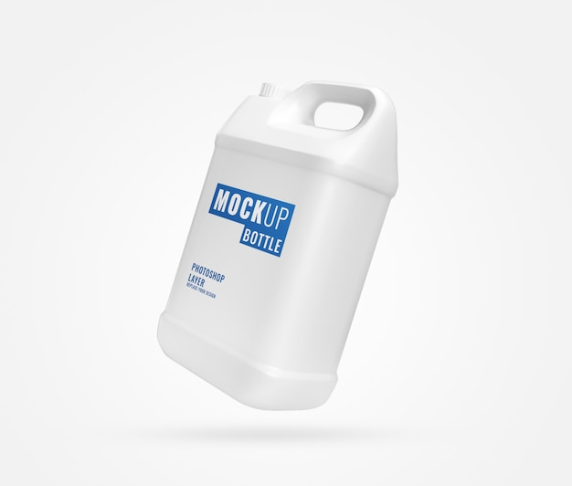 Long white gallon mockup