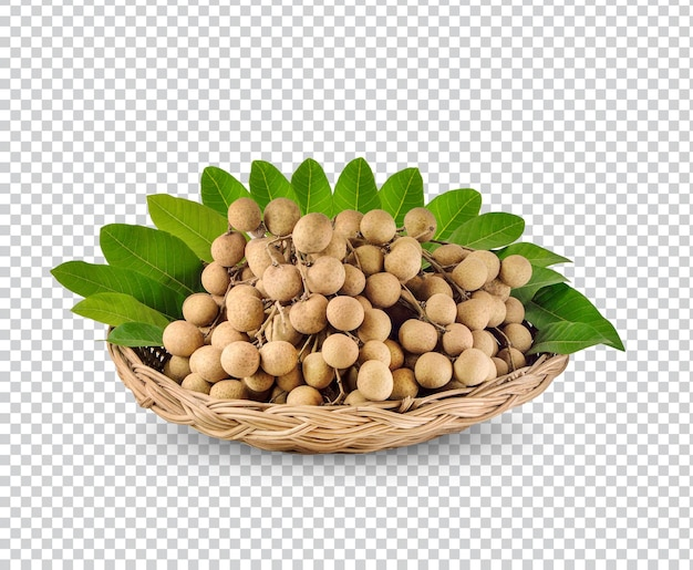 Longan with leaves isolated premium psd