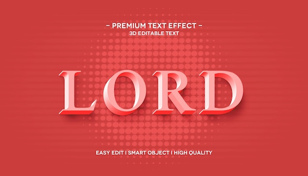 Lord 3d 텍스트 스타일 효과 템플릿