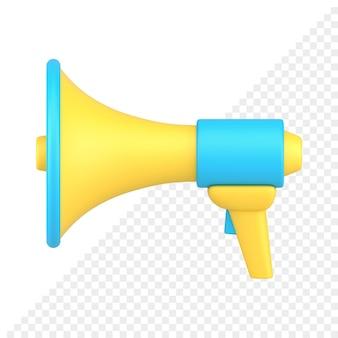 Loudspeaker 3d icon