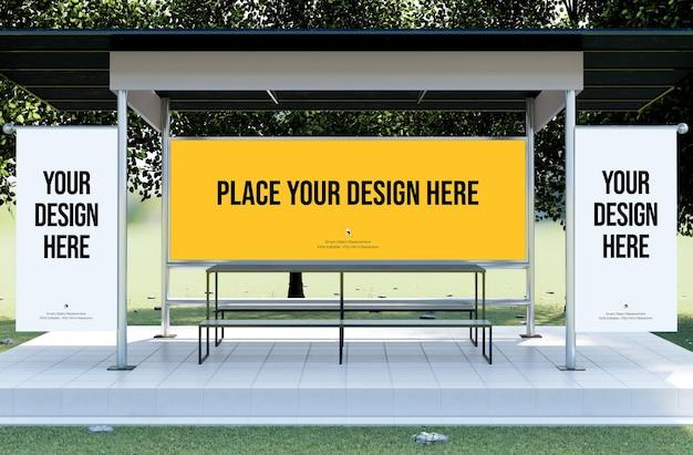 Lounge area banner and billboard mockup