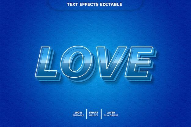 Любовный 3d текстовый эффект
