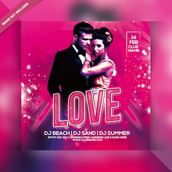 Love affairs party flyer
