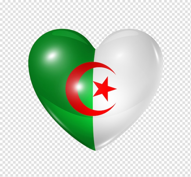 Love algeria, heart flag icon