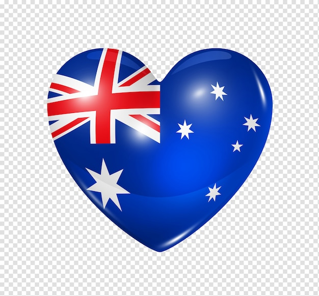 Love australia, heart flag icon