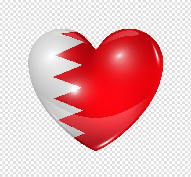Love bahrain, heart flag icon