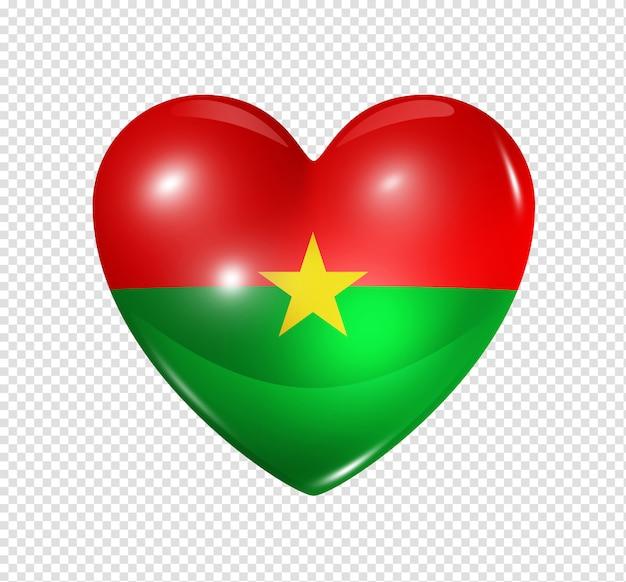 愛のブルキナファソ、心臓フラグシンボル