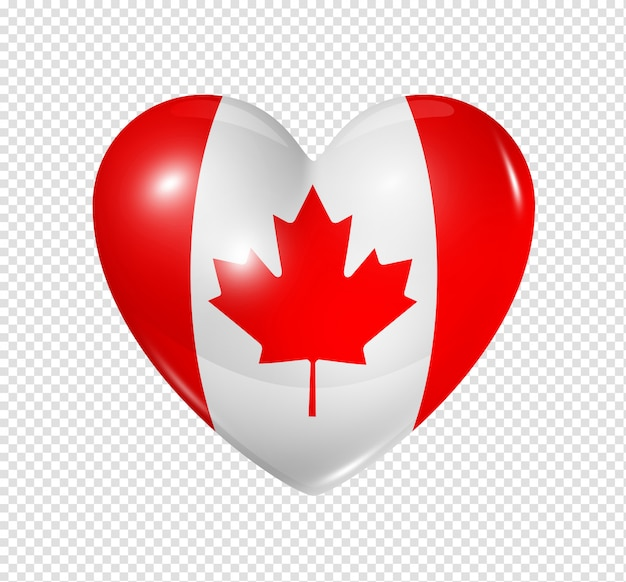Love canada, heart flag icon
