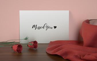 Love card studio mockup