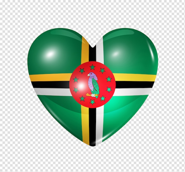 Love dominica, heart flag icon