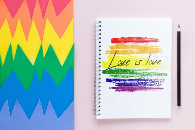 Love is love message for pride day