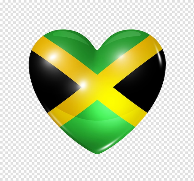 Love jamaica, heart flag icon