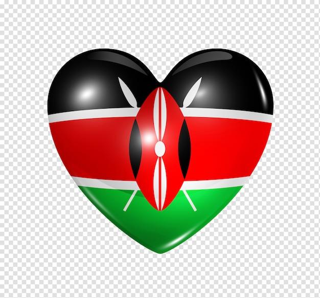 Любовь кения, символ сердца флаг
