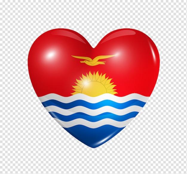 Love kiribati, heart flag symbol