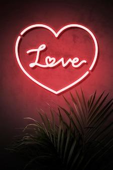 Любовь неоновая вывеска