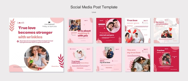 Love podcast social media post template