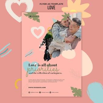 写真付きの愛の印刷テンプレート