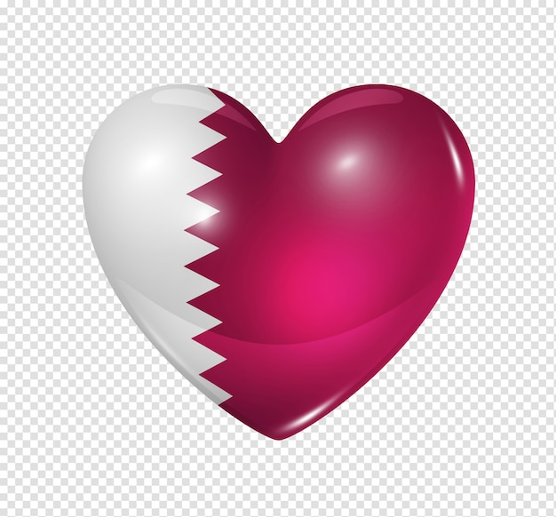 Love qatar, heart flag icon