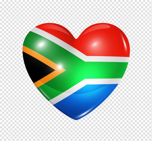 Love south africa, heart flag icon