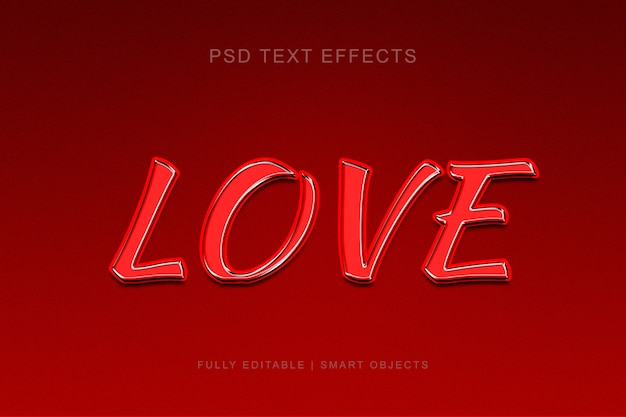 Love style text effect