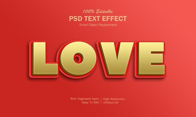 Любовный текстовый эффект