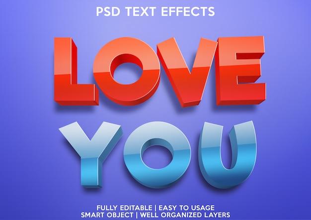 Текстовый эффект любви