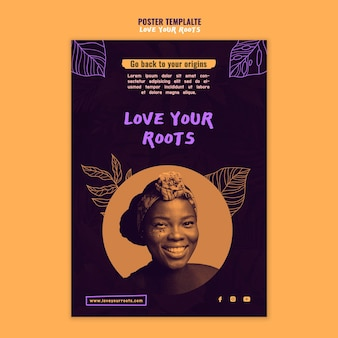 Love your roots flyer template