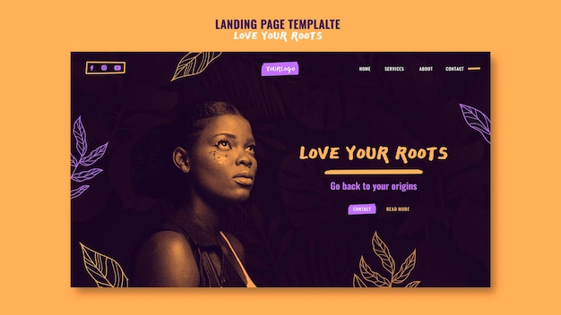 Love your roots landing page