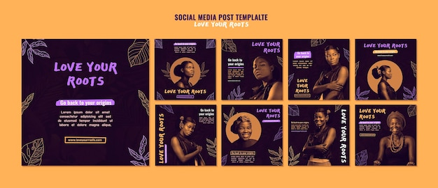 Любите свои корни сообщения в социальных сетях