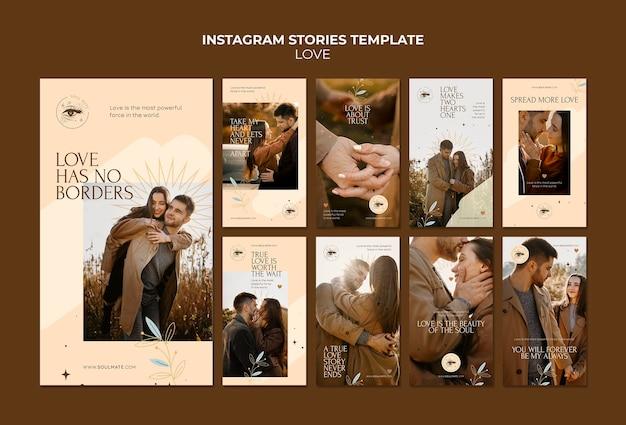 Прекрасная пара историй instagram Premium Psd