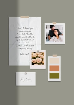 Lovely couple moodboard template
