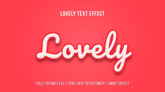 Lovely valentine's day text effect template