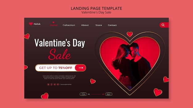 Lovely valentine's day web template