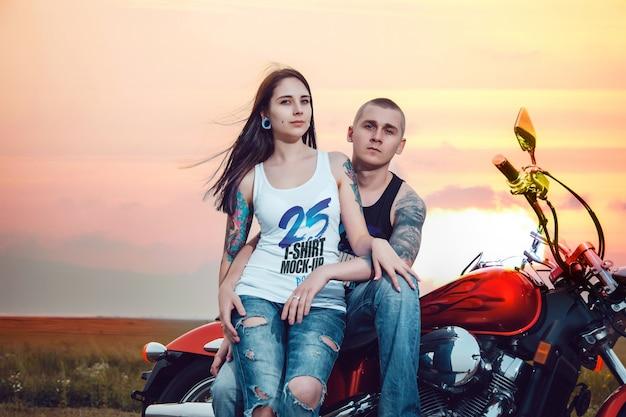 Lovers tank-top mockup