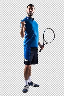 Lucky tennis player