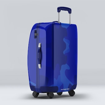 Luggage suitcase mockup design isolated