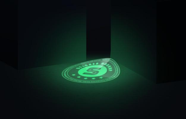 Luminescent sticker mockup